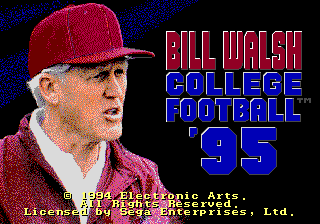 Bill Walsh College Football 39 95