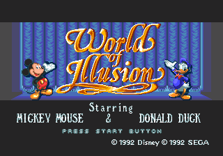 World of Illusion StarringMickey Mouse and Donald Duck
