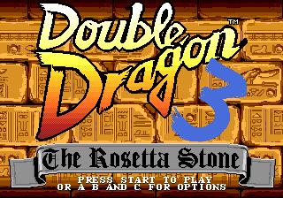 Double Dragon 3 The Rosetta Stone