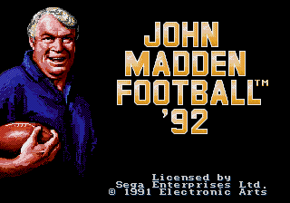 JohnMaddenFootball92 MDTitleScreen.png