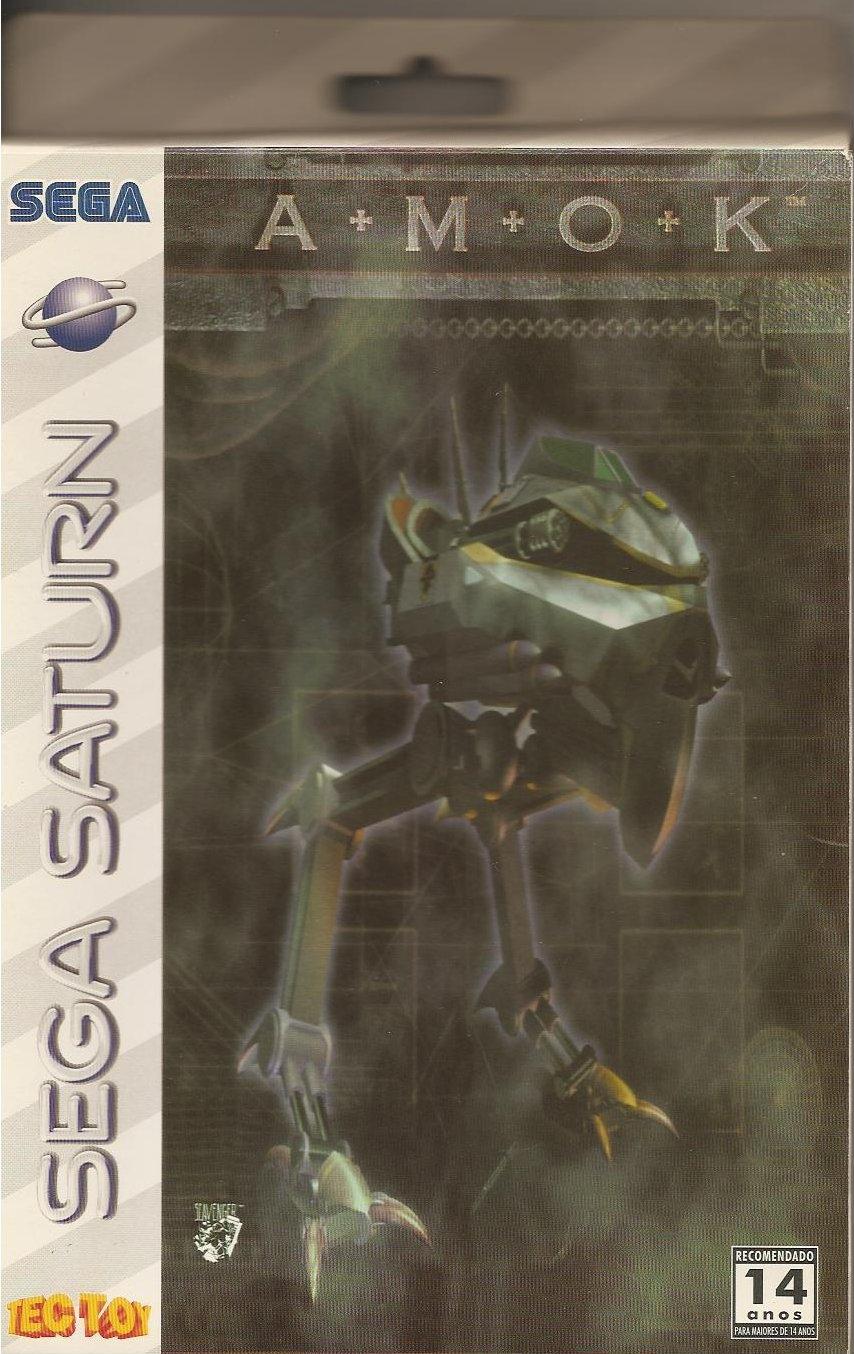 AMOK Sega Saturn-cover game!