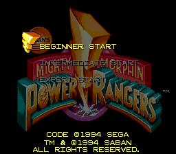 Mighty Morphin Power Rangers (Mega-CD)