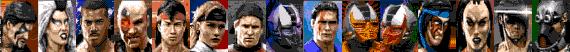 Mortal Kombat III Sega Mega Drive characters