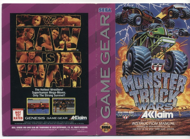 File:Monster Truck Wars GG US Manual.pdf - Sega Retro