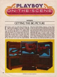 Sega-Vision models, as seen in Playboy magazine.