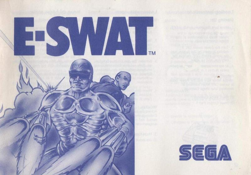 File:Cyber Police ESWAT SMS EU Manual.pdf - Sega Retro
