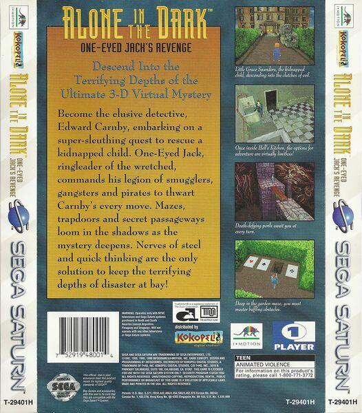 Alone in the Dark 2 Sega Saturno cover