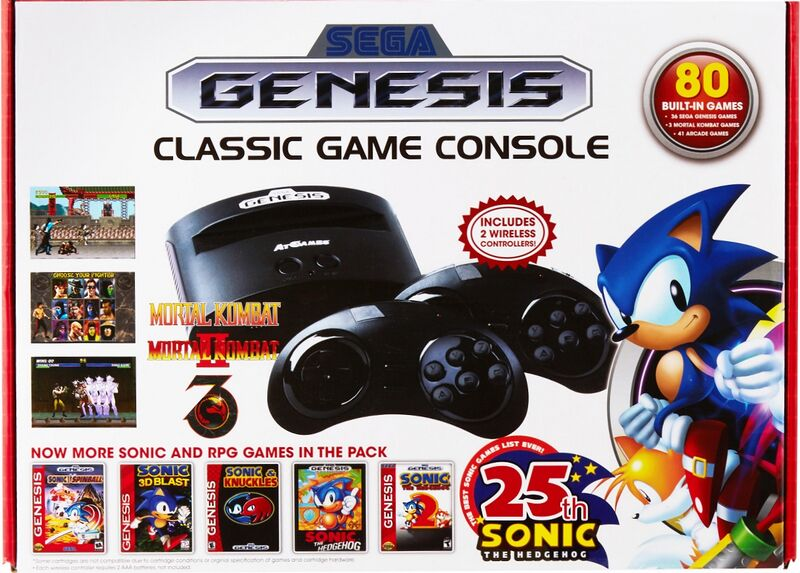 File:ArcadeClassic MD US Box Front AtGames 80G Sonic25th.jpg