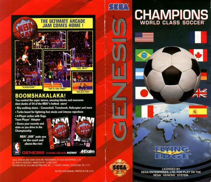 File:Champions World Class Soccer MD US Manual.pdf - Sega Retro