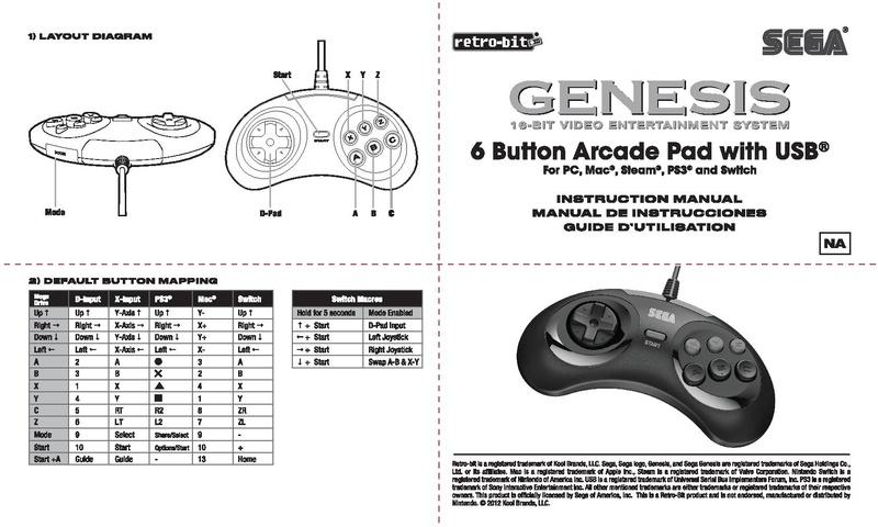 File:RB SEGA Genesis 6B USB NA MANUAL 06-26-19.pdf - Sega Retro