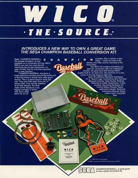 File:ChampionBaseball Arcade US Flyer Kit.pdf - Sega Retro