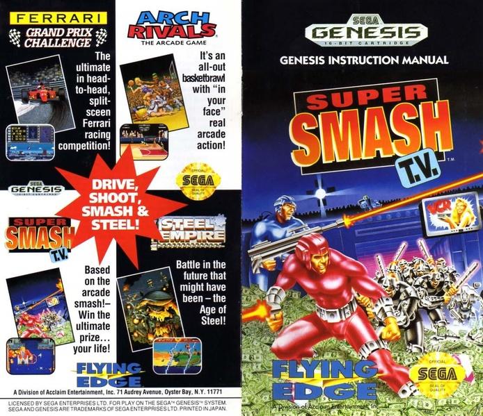 File:Super Smash TV MD US Manual.pdf - Sega Retro