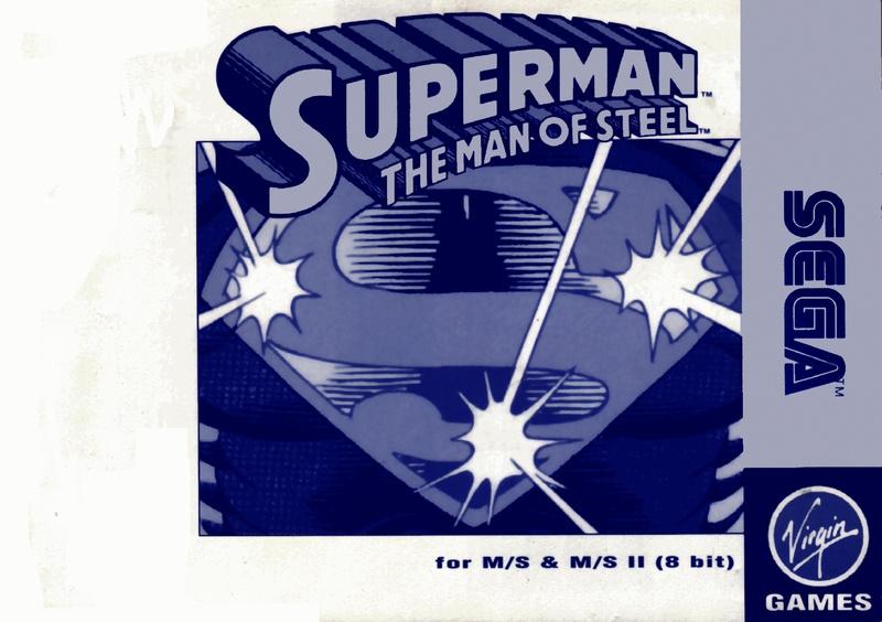 File:Superman The Man of Steel SMS EU Manual.pdf - Sega Retro