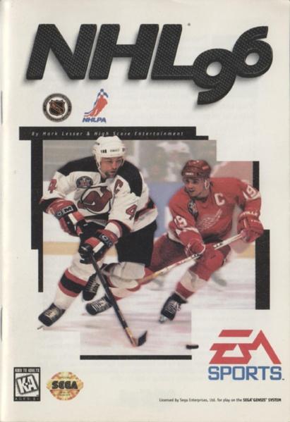 File:NHL 96 MD US Manual.pdf - Sega Retro