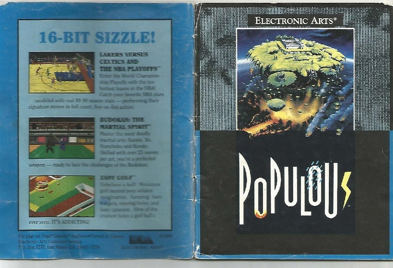 File:Populous MD US Manual.pdf - Sega Retro
