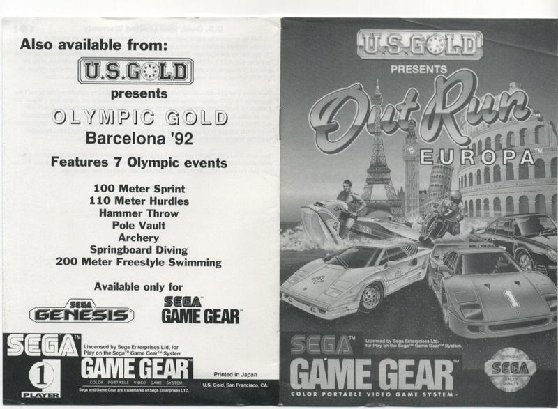 File:OutRun Europa GG US Manual.pdf - Sega Retro