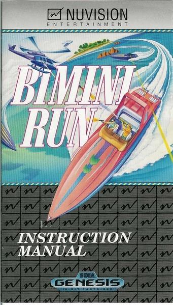 File:Bimini Run MD US Manual.pdf - Sega Retro