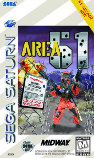 Area 51 Sega Saturno, capa/cover do jogo